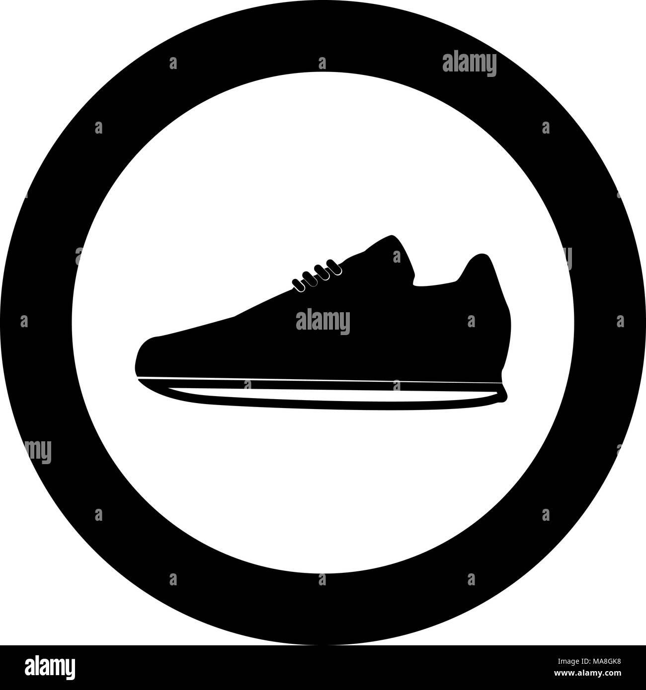 Zapatillas De En Círculo Color Deporte Icono Negro Ilustración 1qwx5C1d