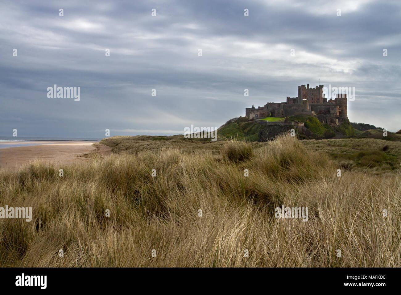 Castillo de Bamburgh Foto de stock