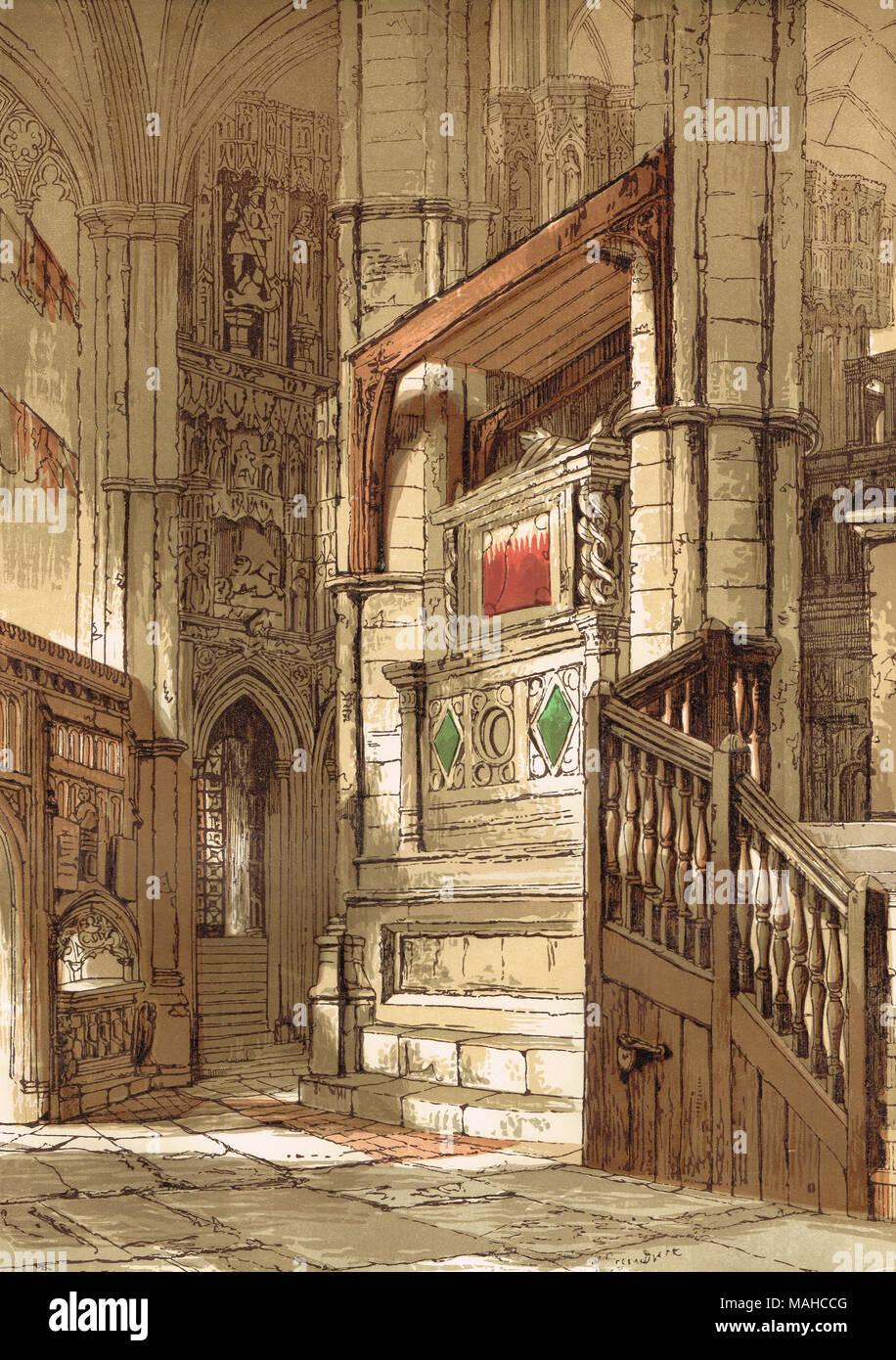 Entrada a la capilla de Eduardo el Confesor, La Abadía de Westminster, Londres, Inglaterra Imagen De Stock
