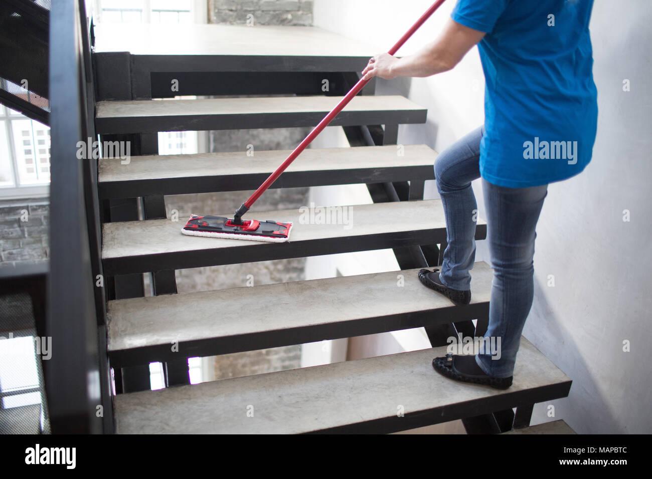 Concepto de servicio de limpieza Imagen De Stock