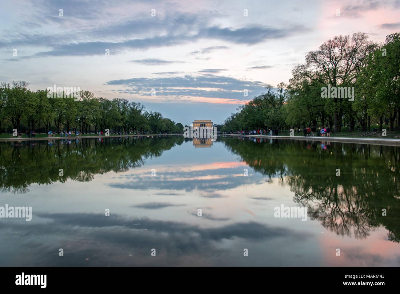 Lincoln Memorial, Washington D.C. Imagen De Stock