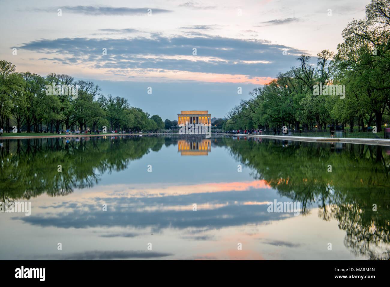Lincoln Memorial, Washington D.C. Foto de stock