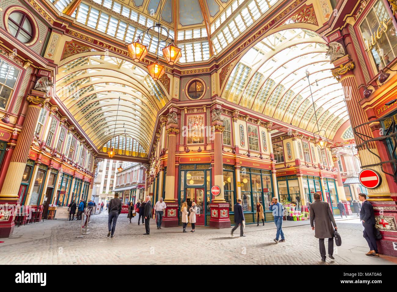 Mercado Leadenhall, Ciudad de Londres, Reino Unido Imagen De Stock