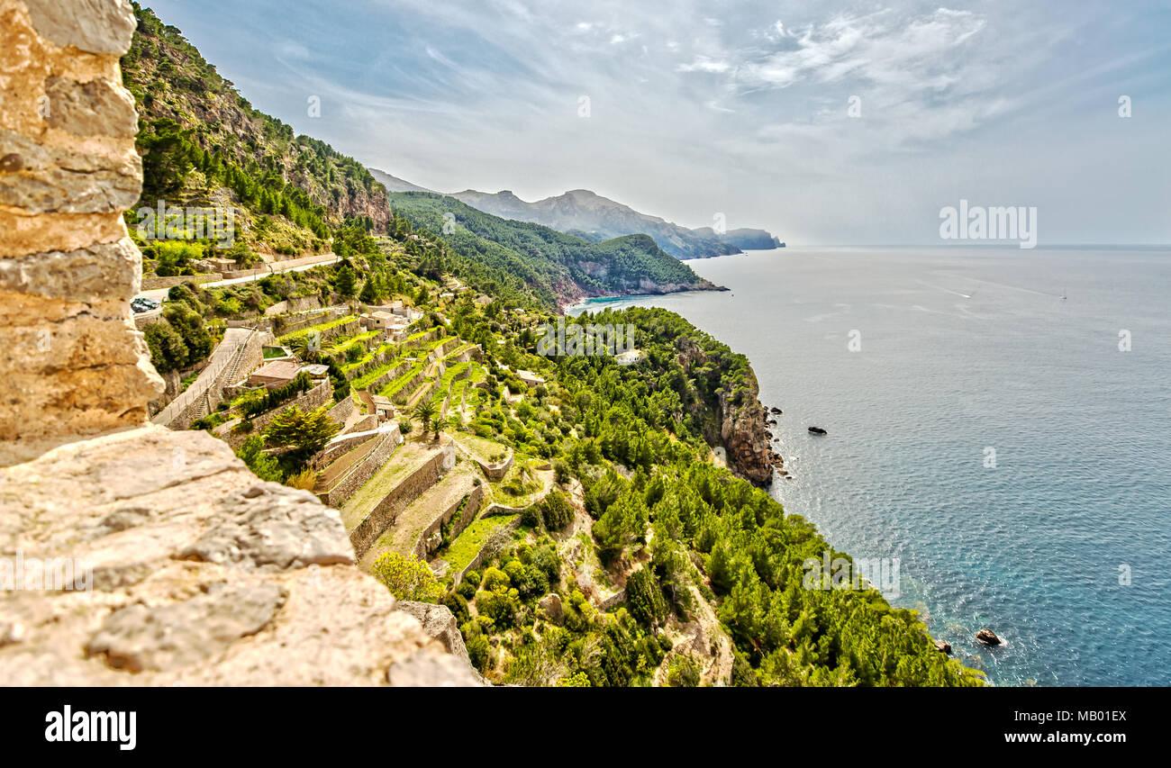 Vista desde la torre del Verger Atalaya en Mallorca Imagen De Stock