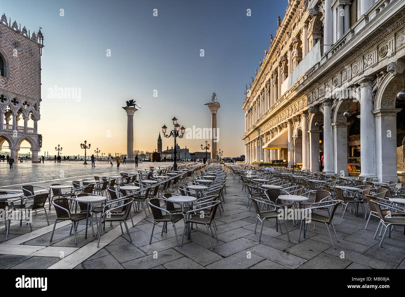 Piazza San Marco en Venecia. Imagen De Stock