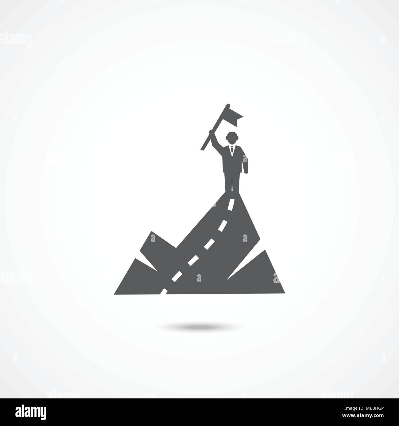Icono de éxito sobre blanco Imagen De Stock
