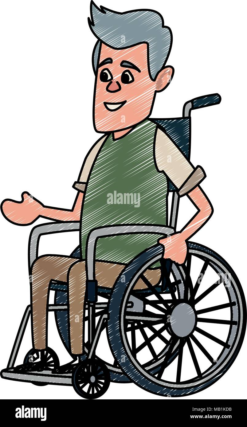 Imágenes Wheelchair Man De Stockamp; On Old SMzqUGjpLV