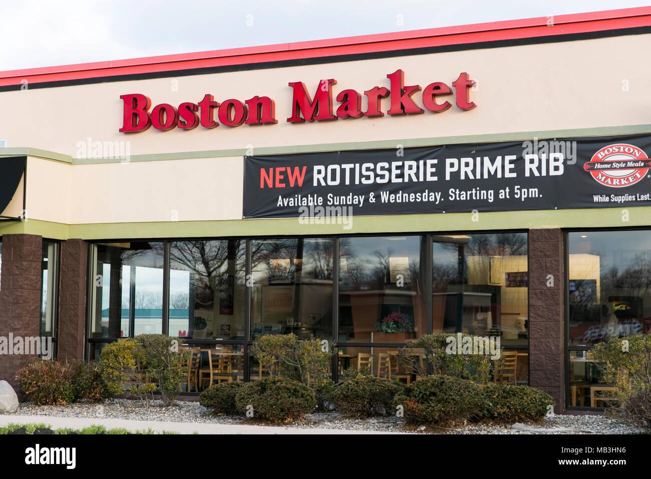 Un Boston Market Restaurante ubicación en Hagerstown, Maryland, el 5 de abril de 2018. Imagen De Stock