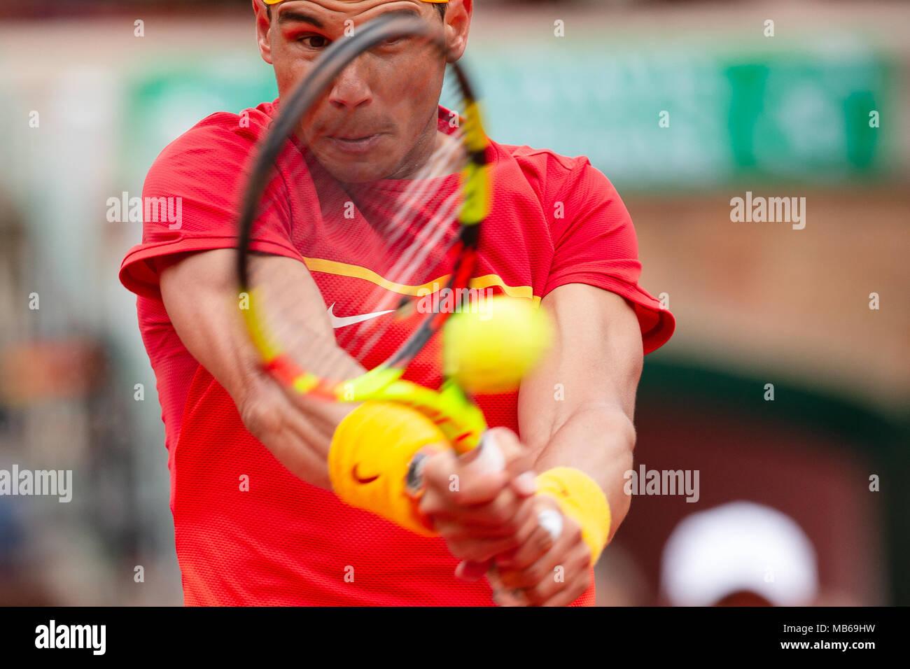 El tenista español Rafael Nadal Foto de stock