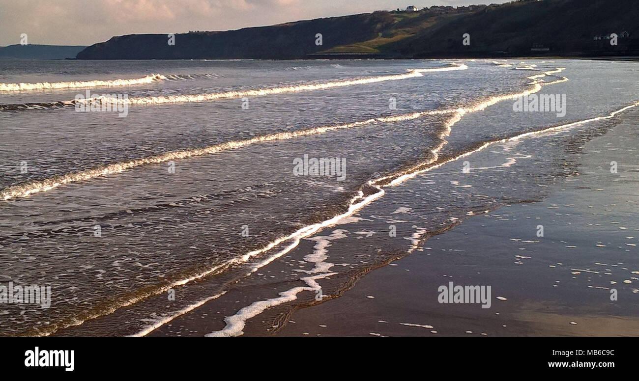 Las olas en el sur de la Bahía Foto de stock