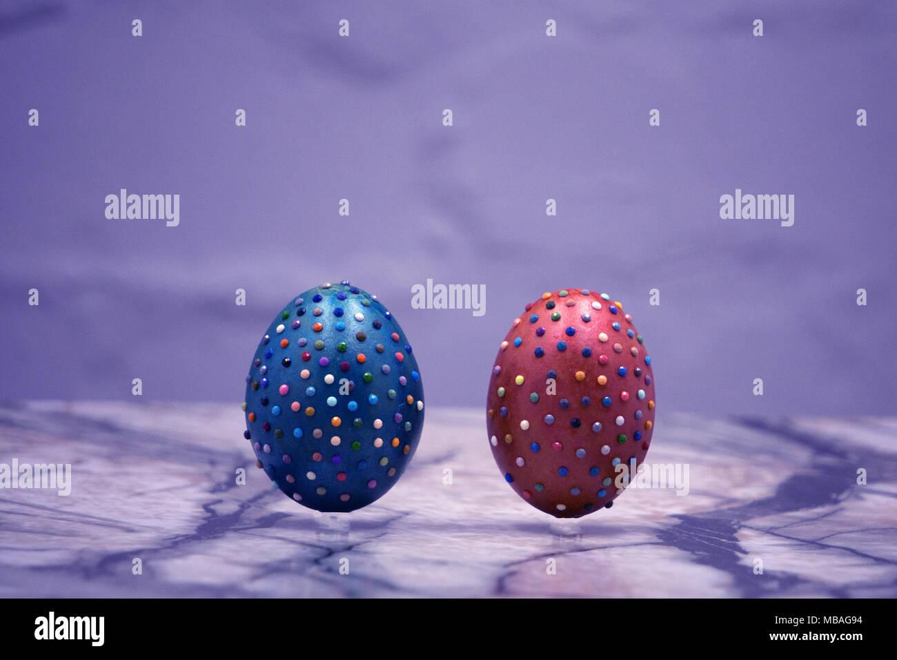 Artesanía aficiones vacaciones de Pascua objetos decorativos naranja Imagen De Stock