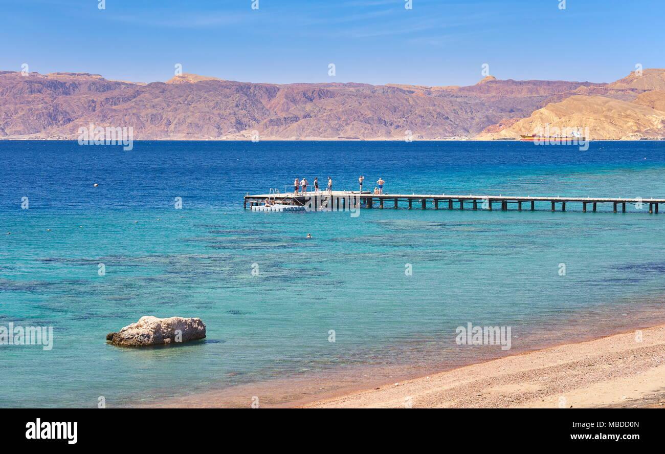 Beach Resort Berenice, Aqaba, Jordania Imagen De Stock