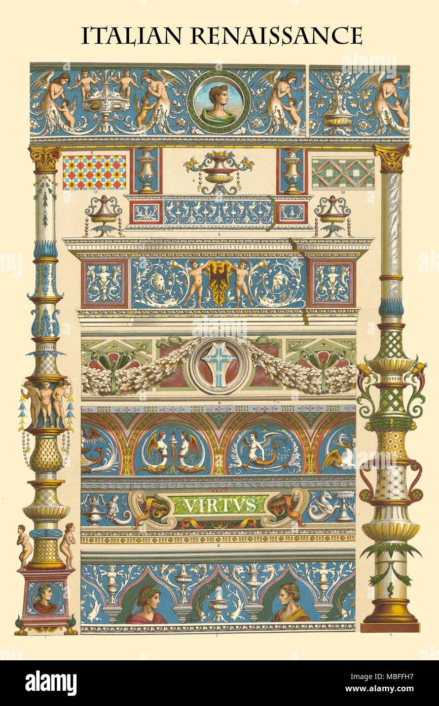 Ornamento-Renacimiento italiano Imagen De Stock