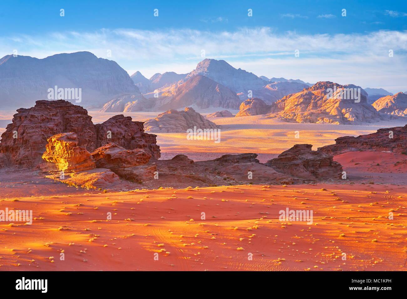 Desierto de Wadi Rum, Jordania Imagen De Stock