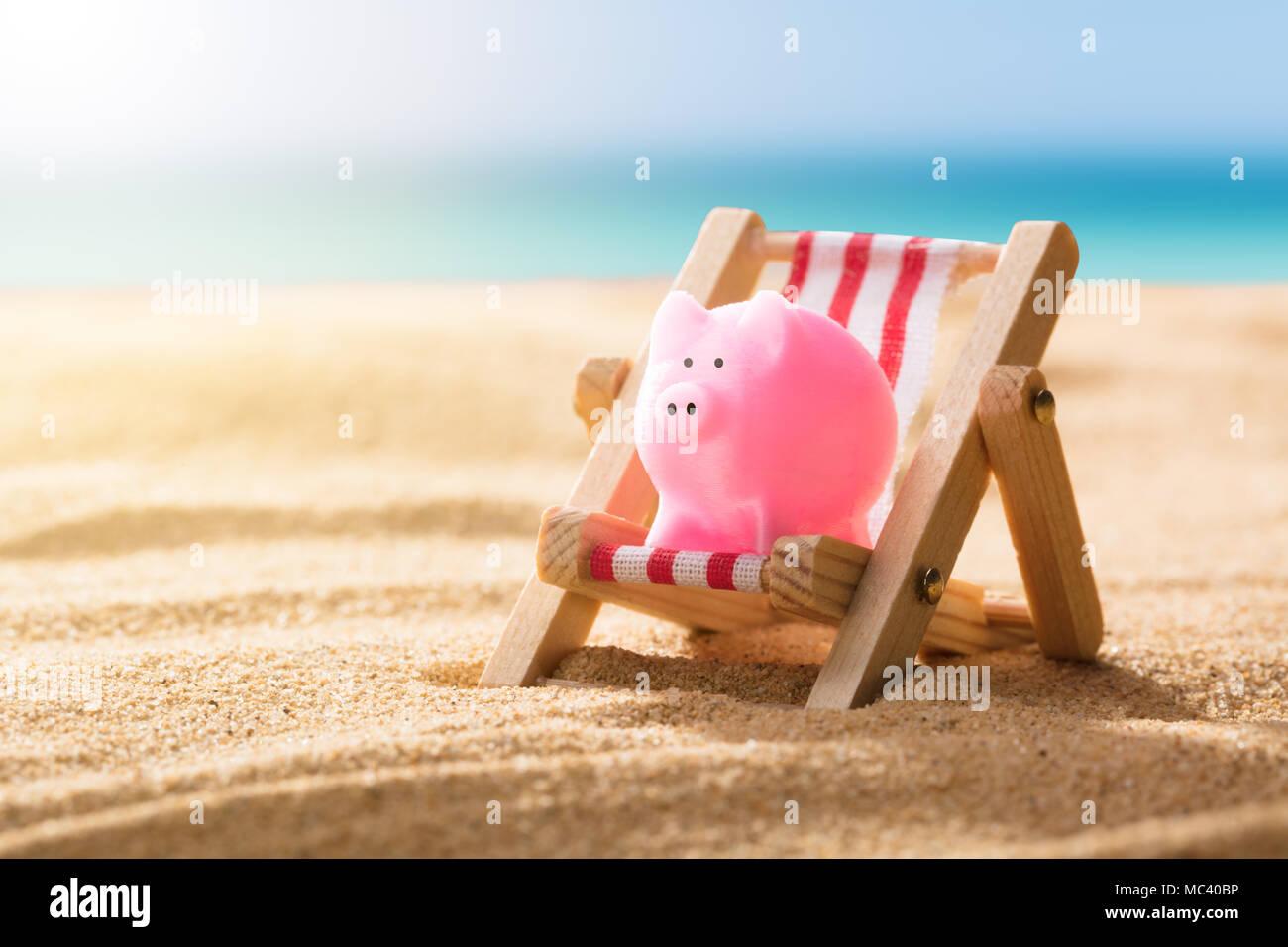 Hucha Bote Hucha Vacaciones en la Playa en Bote