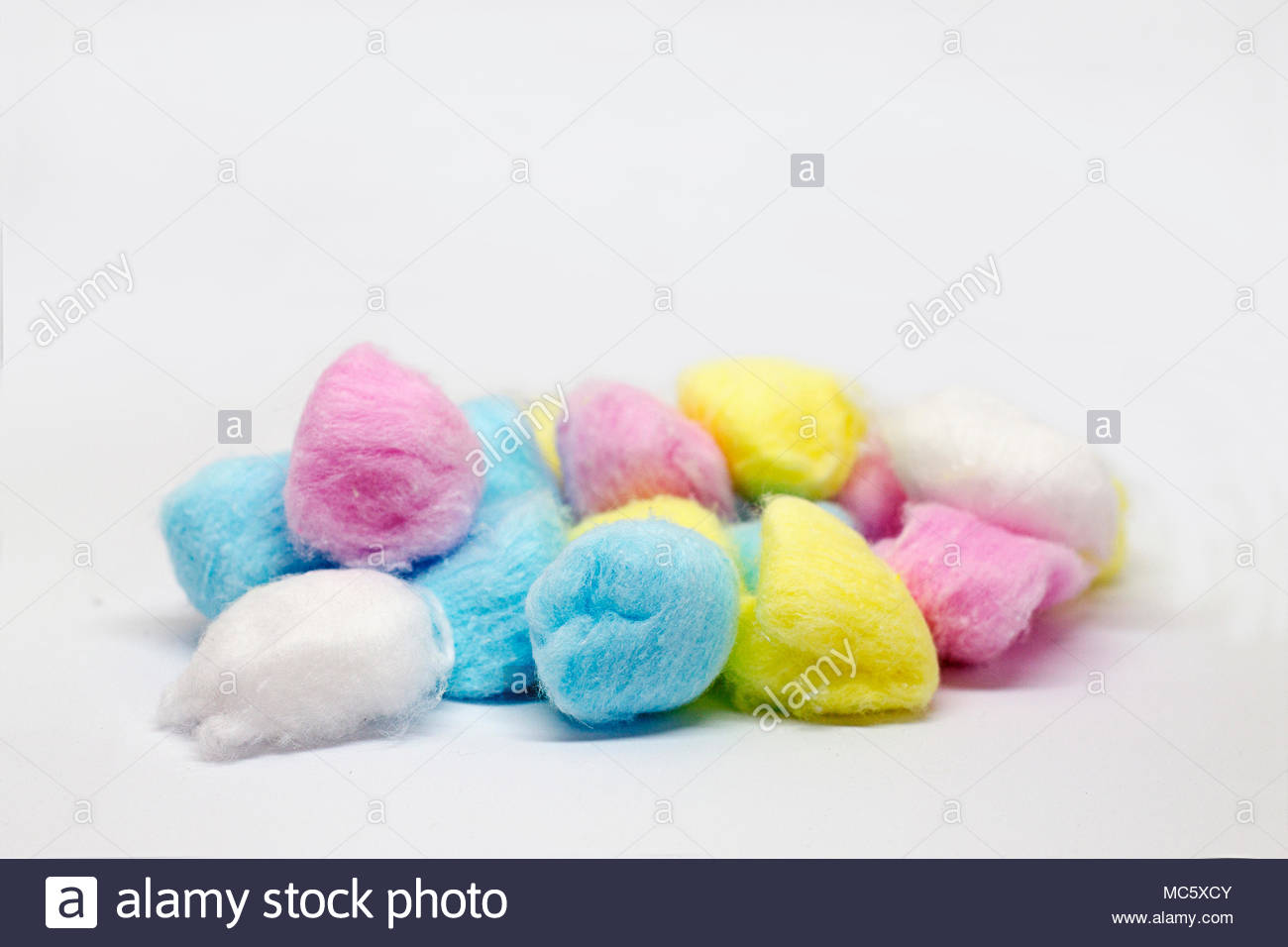 Hermoso y colorido de algodón. Imagen De Stock