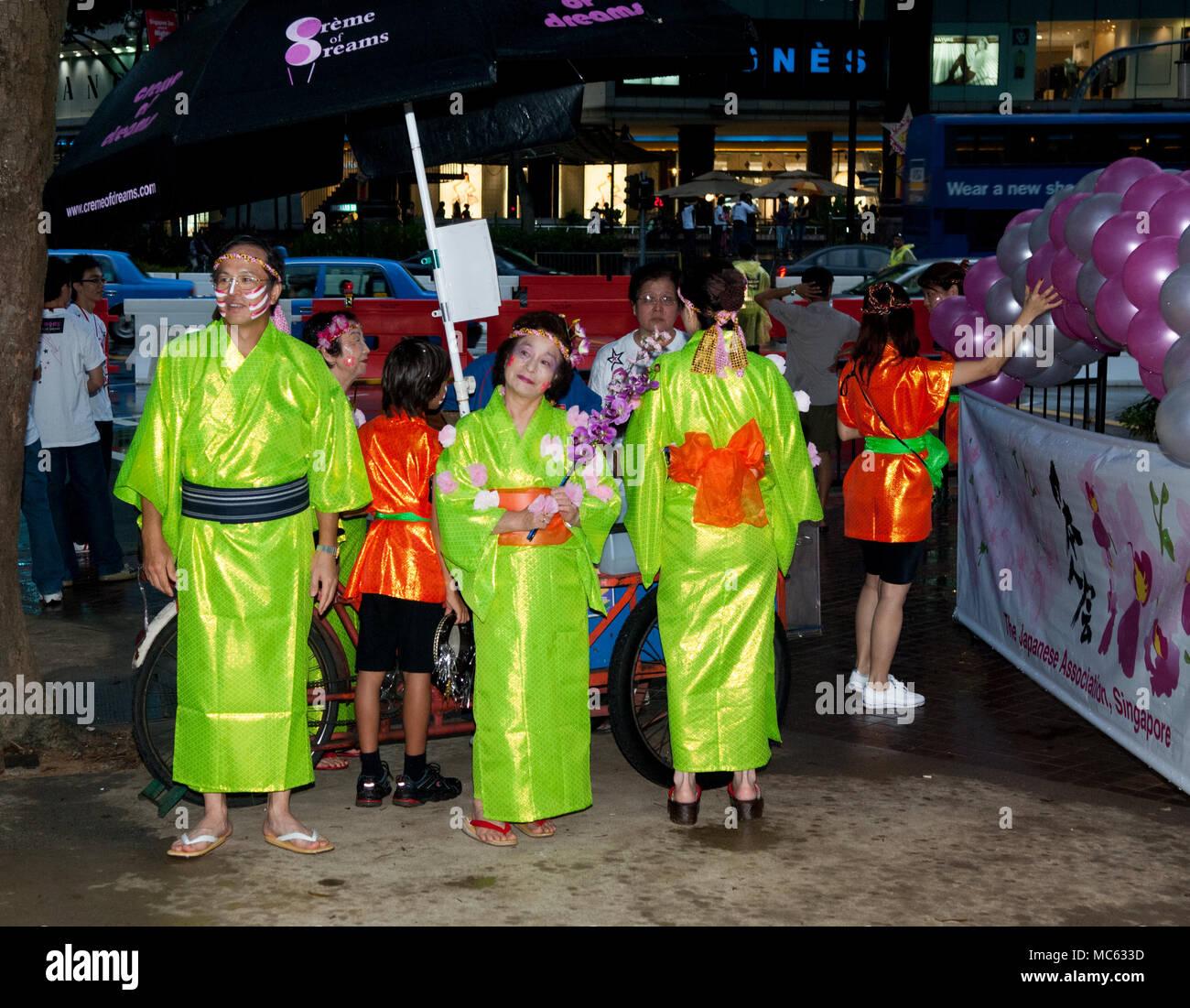 Los Participantes En El Desfile Chingay Singapur Foto Imagen De