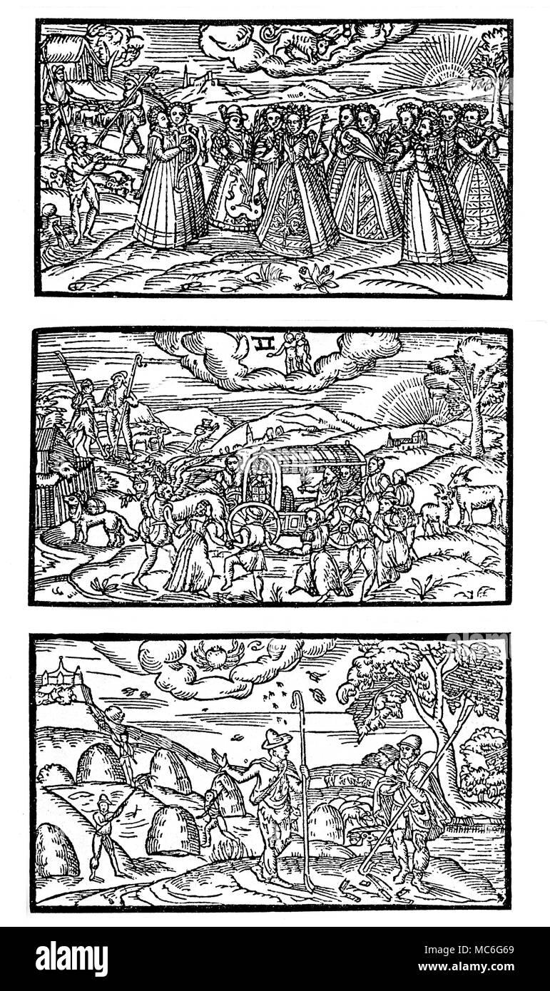 Calendario Zodiacal.Meses Calendarios Abril Mayo Y Junio Calendario Del Siglo Xvi