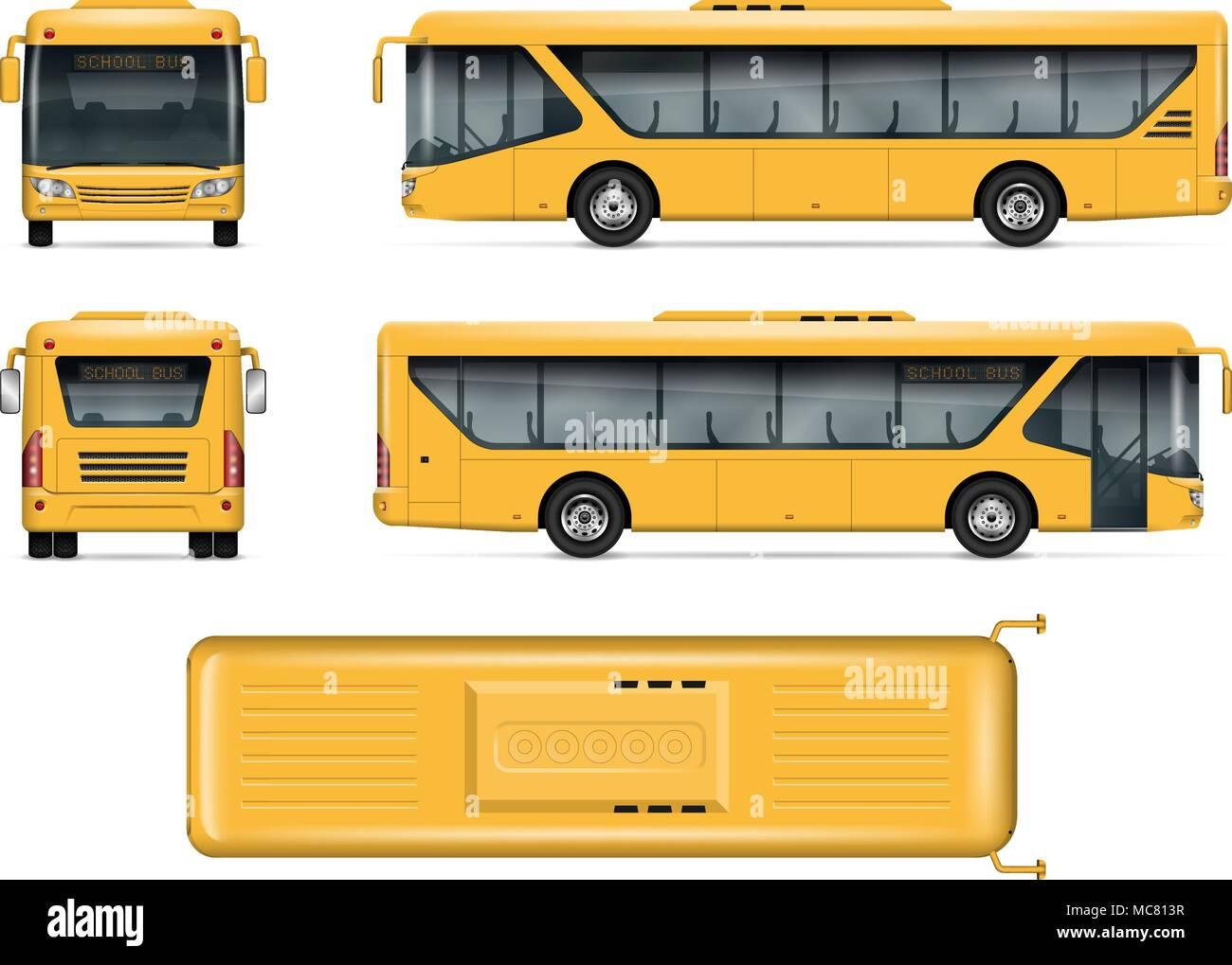 Top View Bus Mock Up Imágenes De Stock & Top View Bus Mock Up Fotos ...