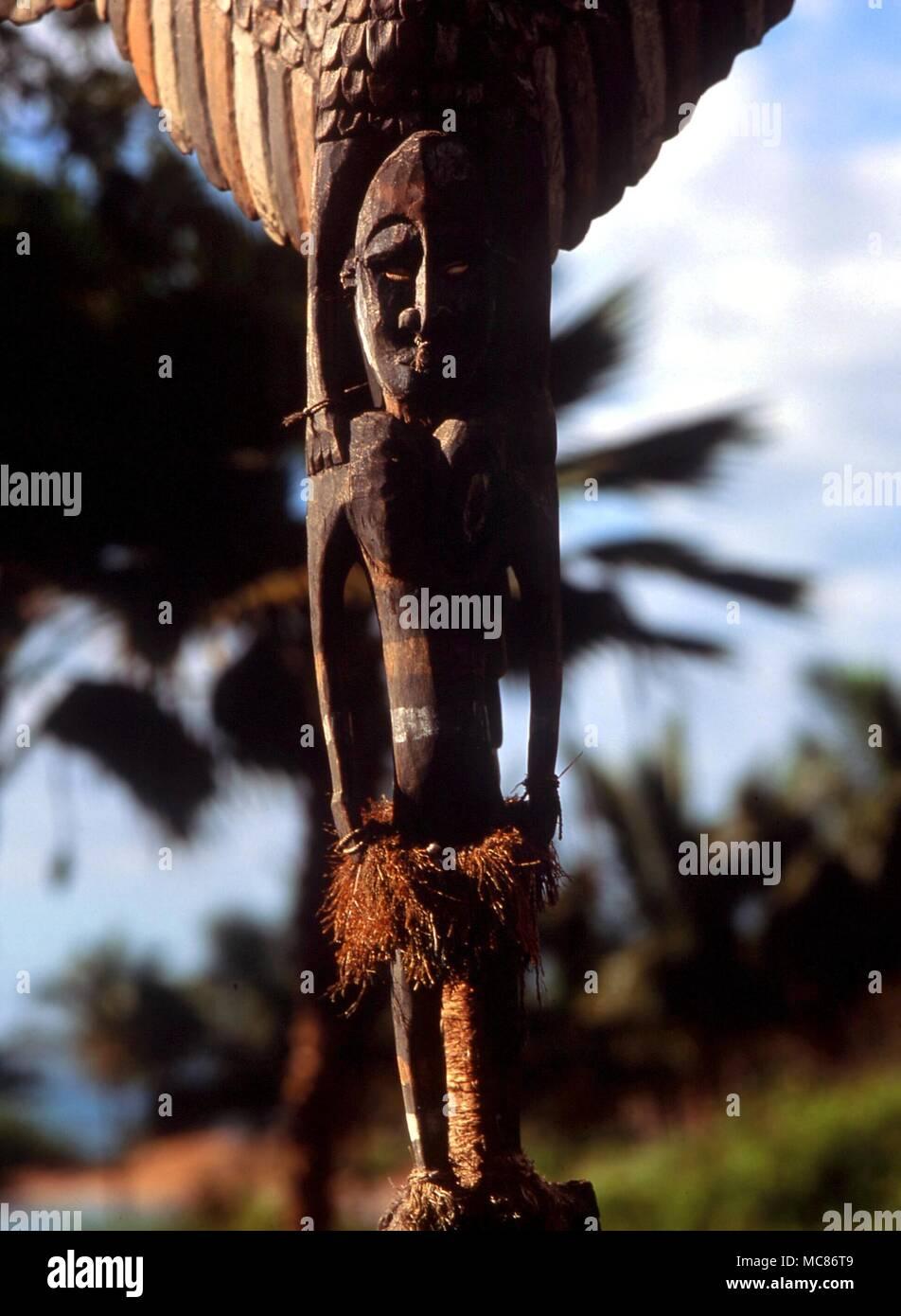 La mitología polinesia Polinesia estatua mágica de madera. Colección privada, Hawai Foto de stock