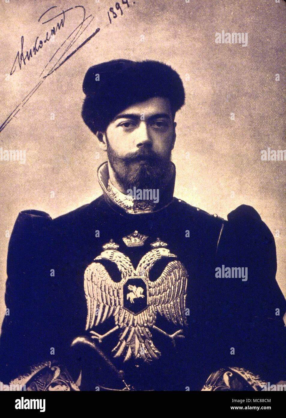 1d69b6490 Tsar Nicholas II en vestido viejo ruso Foto & Imagen De Stock ...