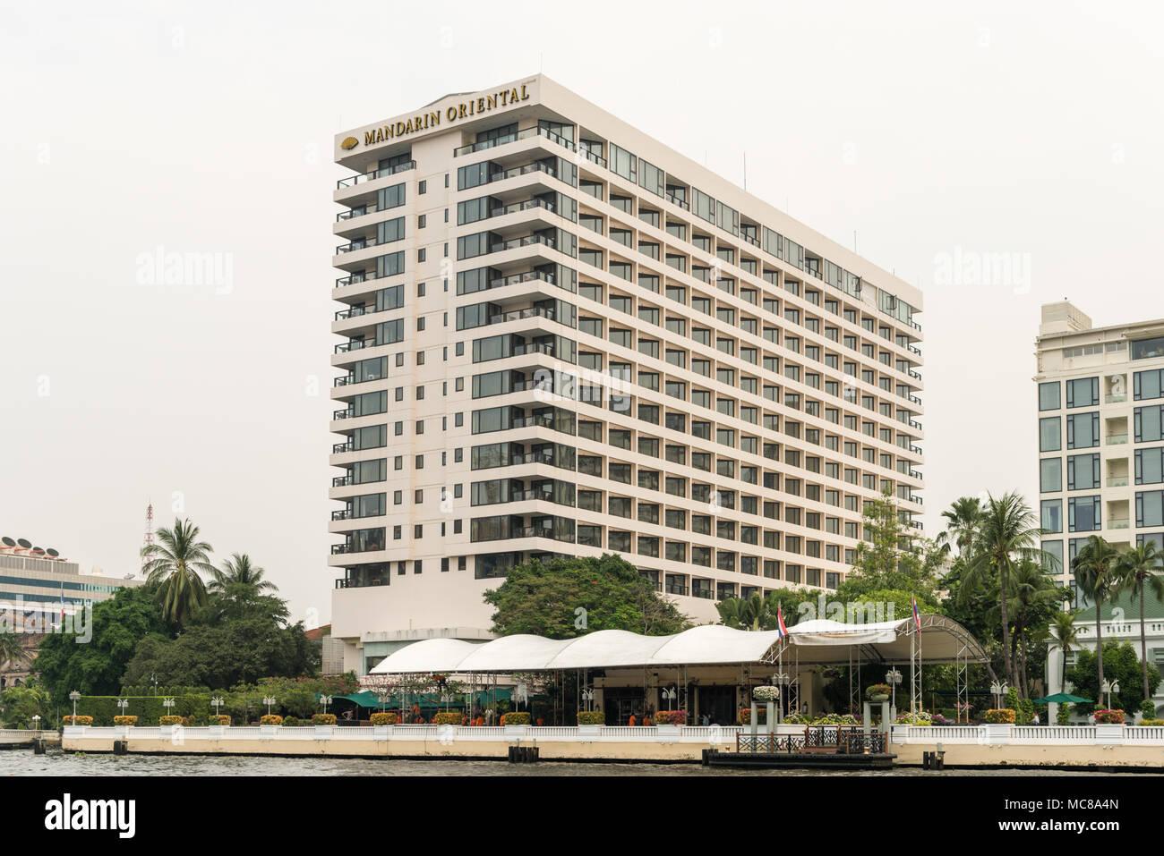 El hotel Mandarin Oriental en Bangkok, Tailandia Imagen De Stock