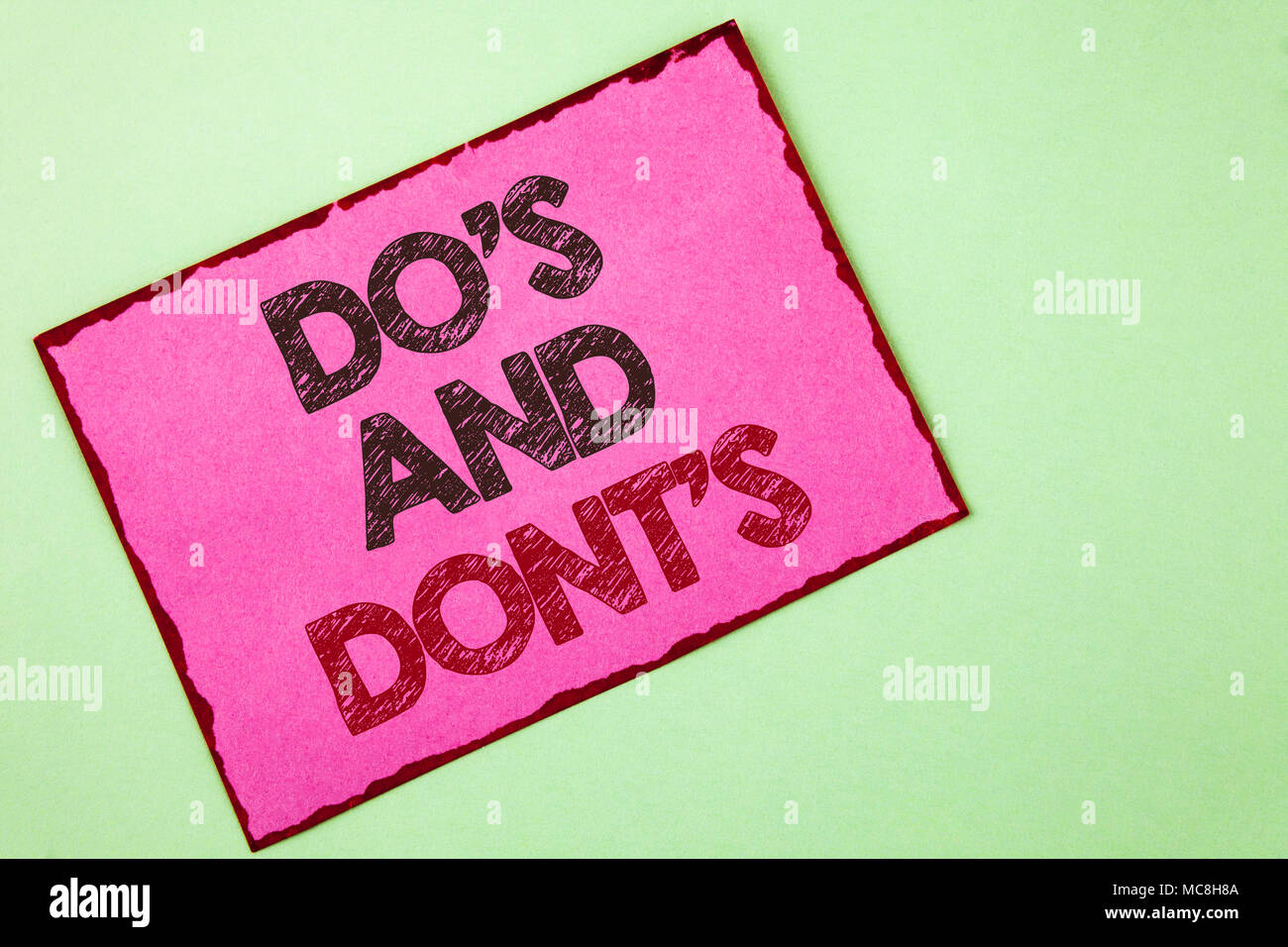 Dos And Donts Imágenes De Stock & Dos And Donts Fotos De Stock - Alamy