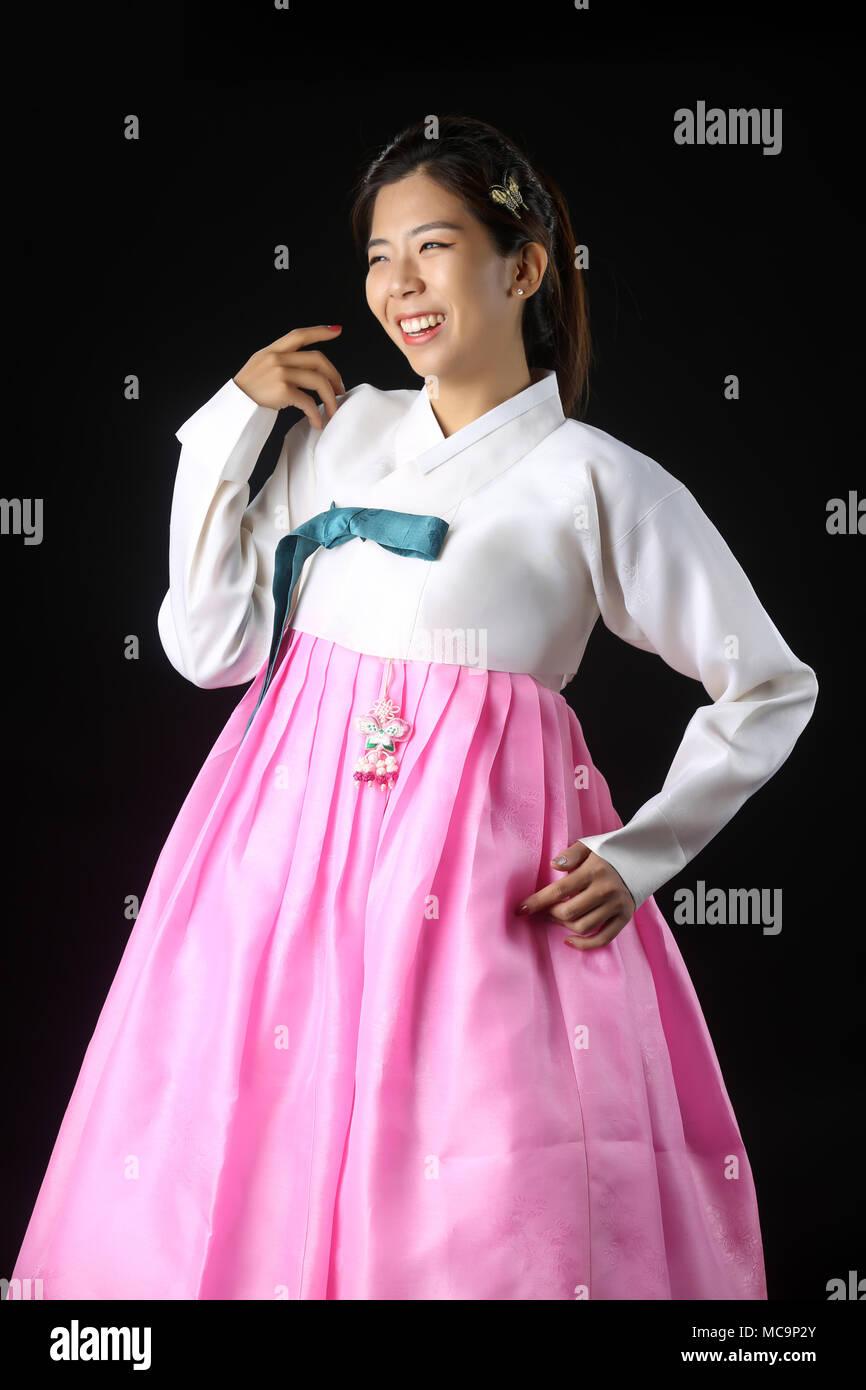 Atractivo Traje De La Boda De Corea Bandera - Colección de Vestidos ...
