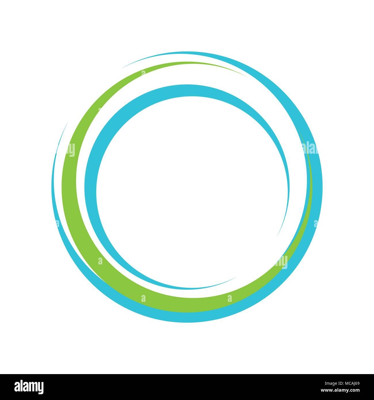 Resumen Objetivo vibrante Círculo Símbolo gráfico vectorial Diseño ...