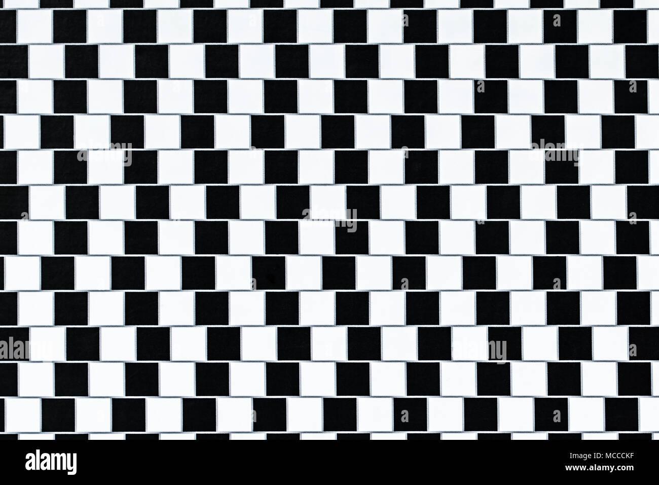Las líneas son paralelas pero parecen estar sesgadas - ilusión óptica. Imagen De Stock