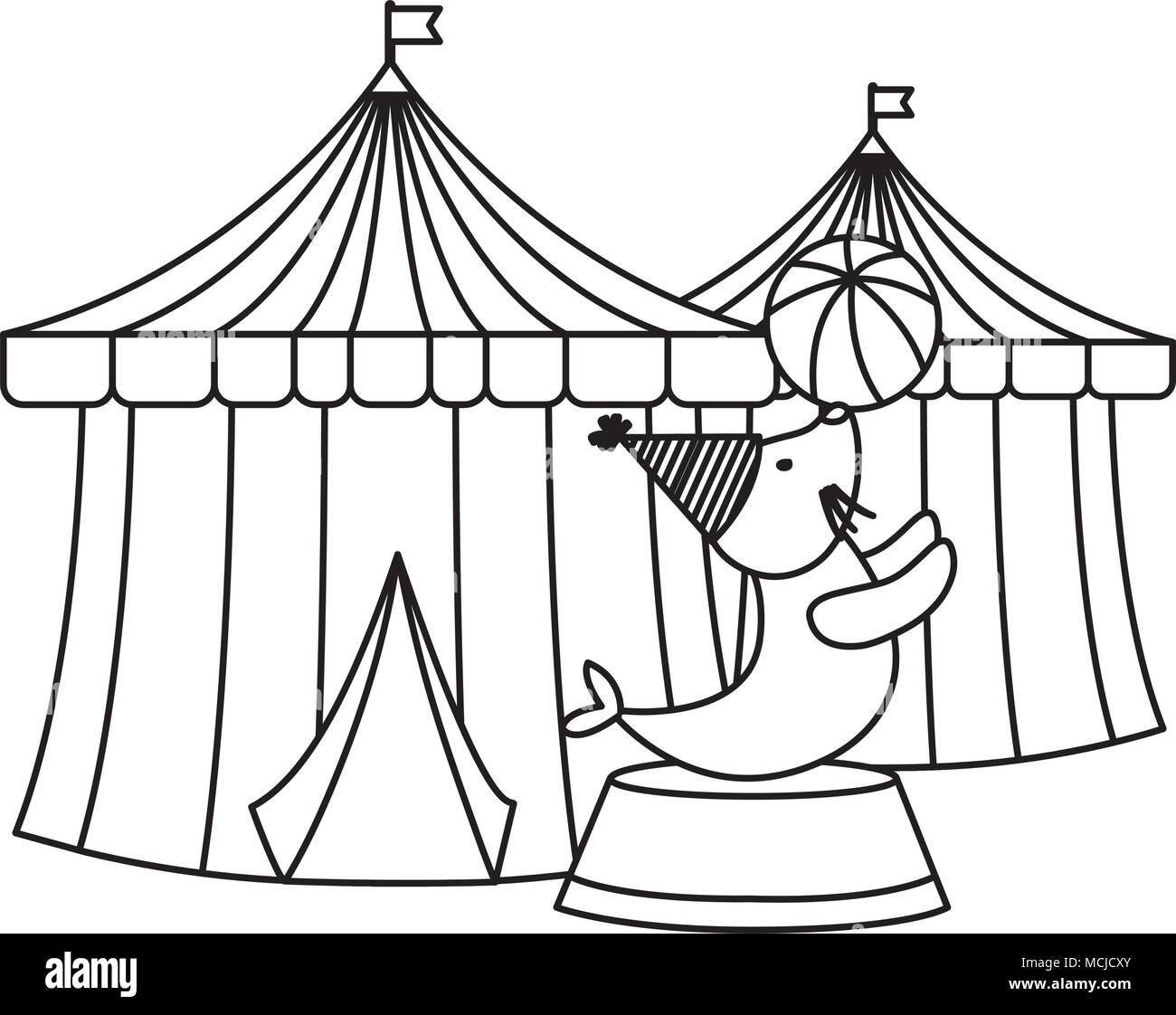 Atractivo Sello De Circo Para Colorear Molde - Dibujos Para Colorear ...