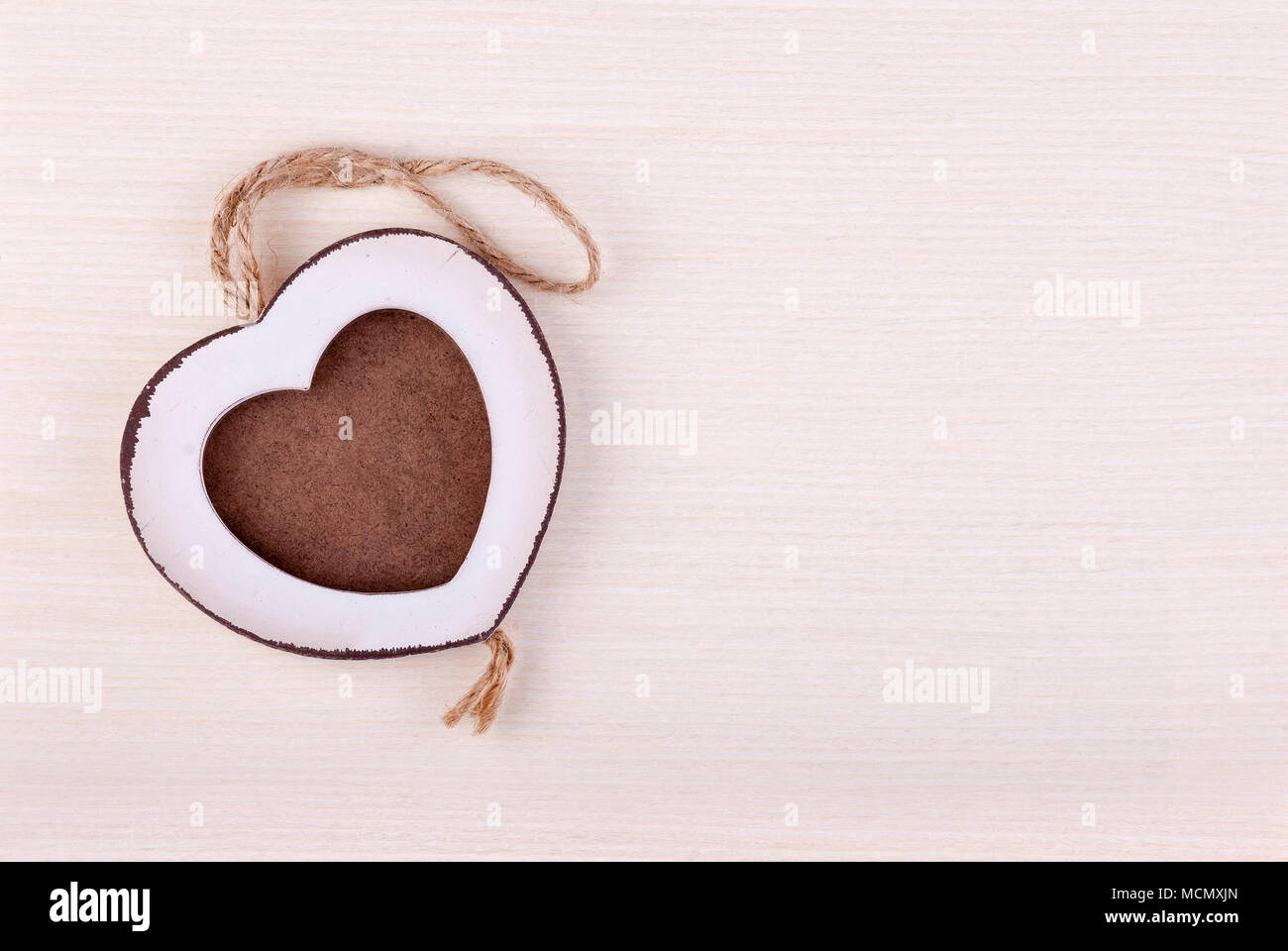 Marco de fotos de madera en forma de corazón de madera de abedul de ...