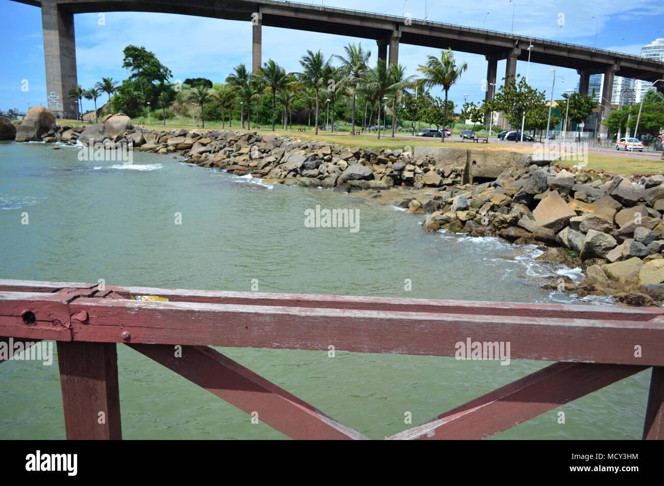 Terceira Ponte Vitoria es Imagen De Stock