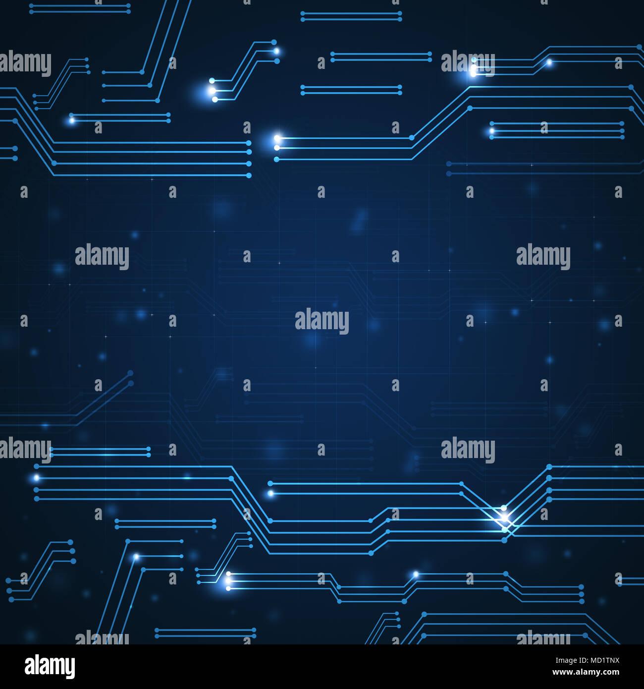 Concepto esquema gráfico de conexiones digitales tecnología de fondo Foto de stock