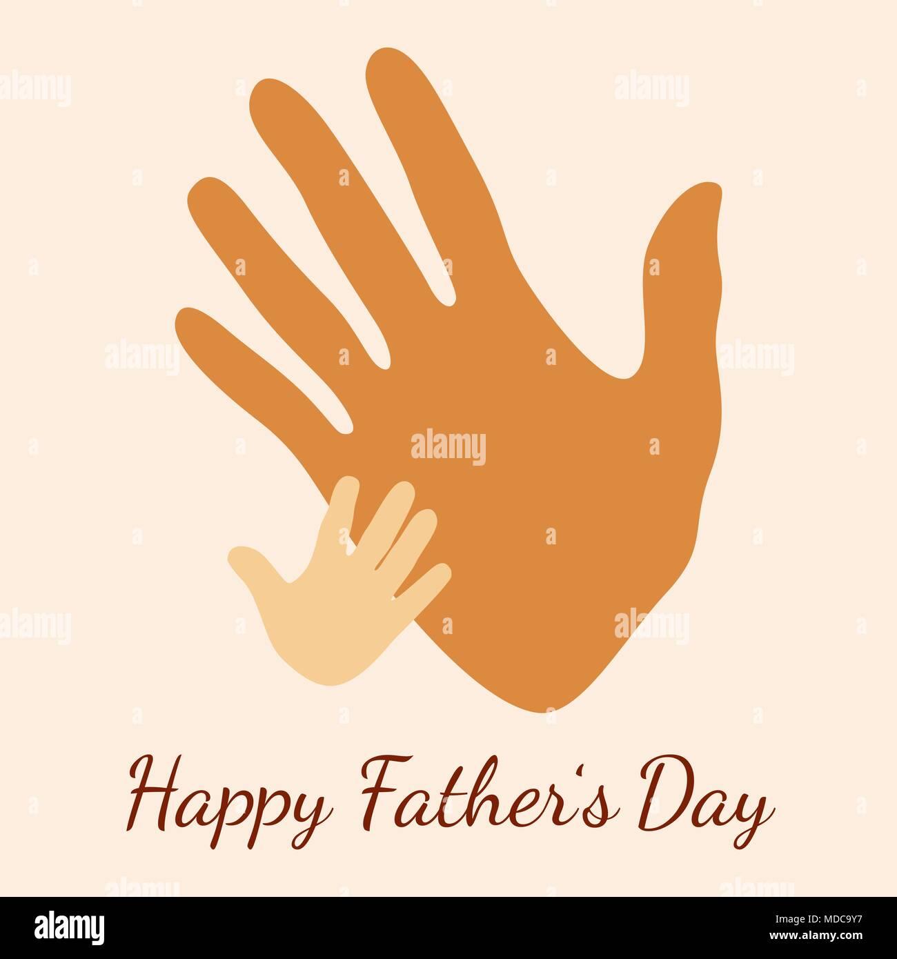 Feliz Día Del Padre Concepto De Vacaciones Manos Pintadas