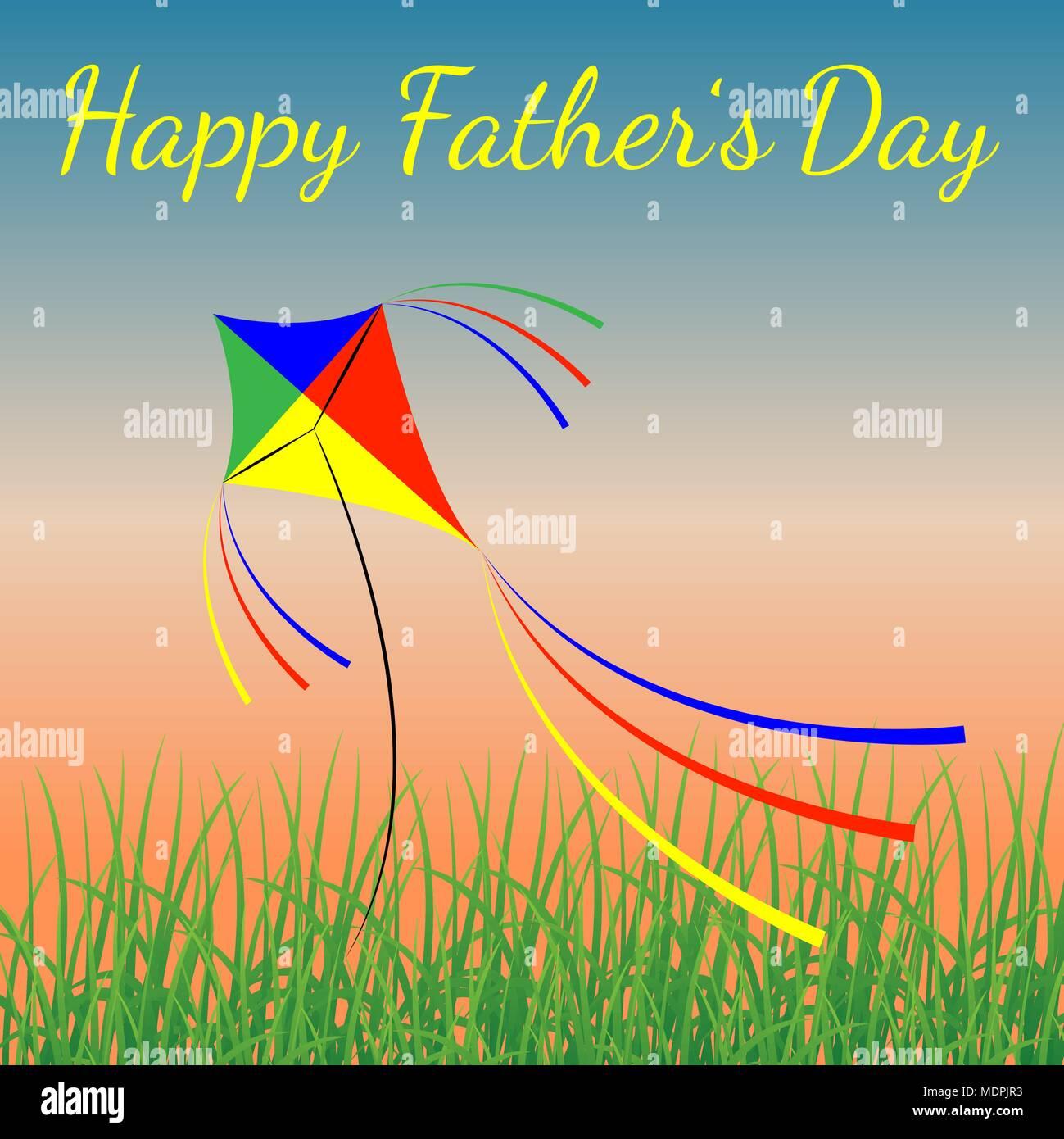 Feliz Día Del Padre Concepto De Vacaciones El Cielo