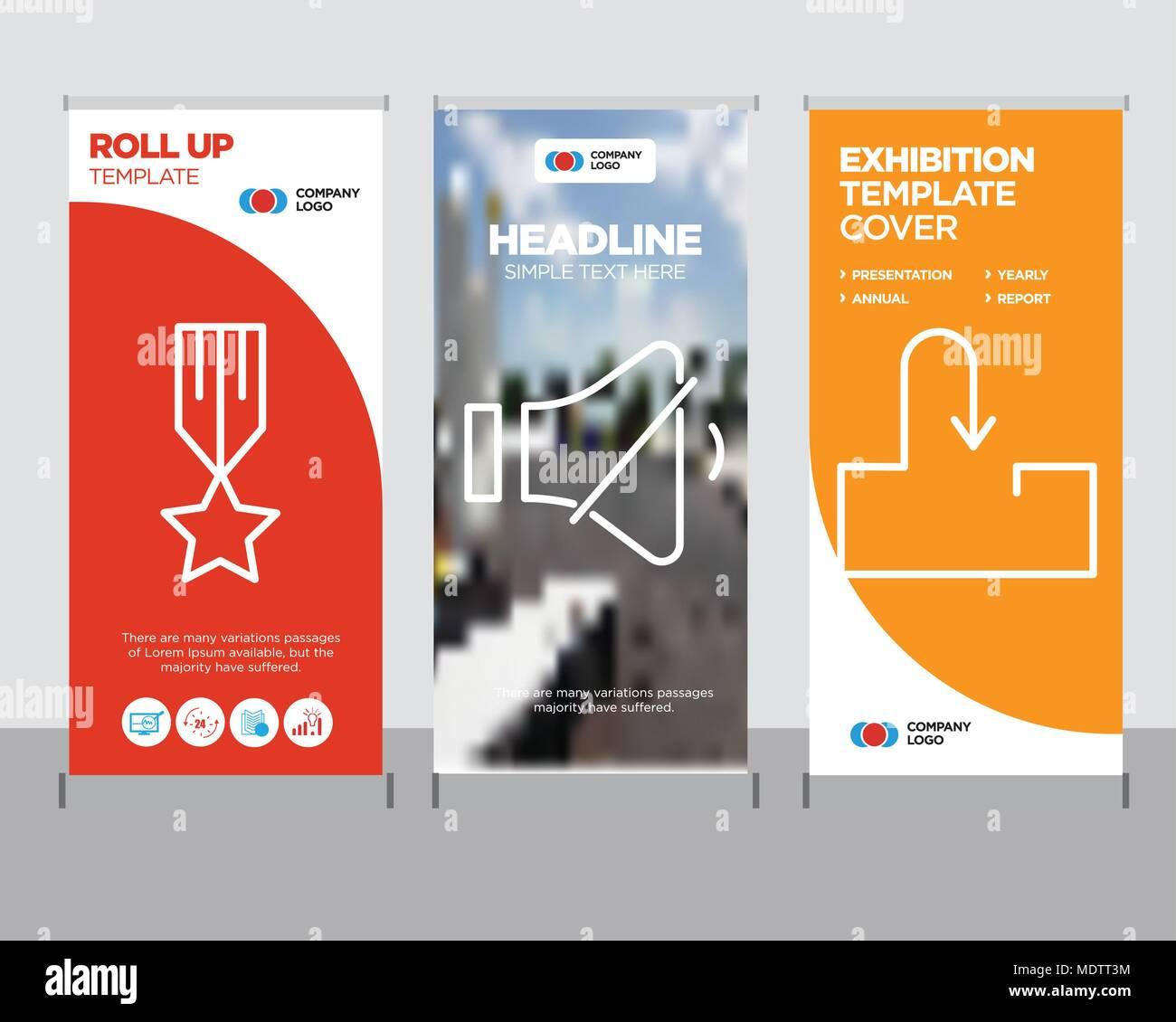 Roll Up Vertical Banner Presentation Publication Imágenes De Stock ...