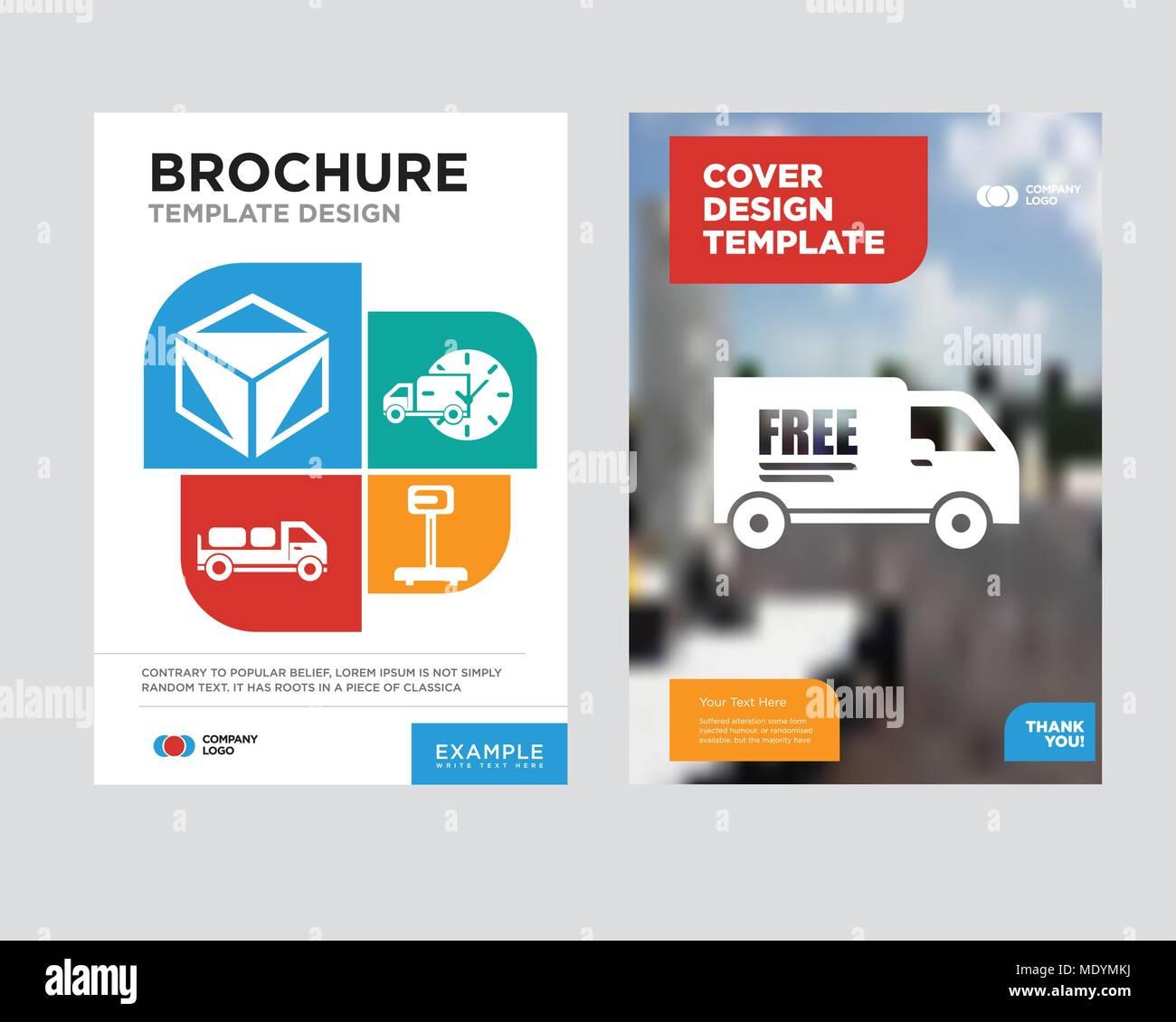 Camión de entrega libre de la plantilla de diseño para folletos y ...
