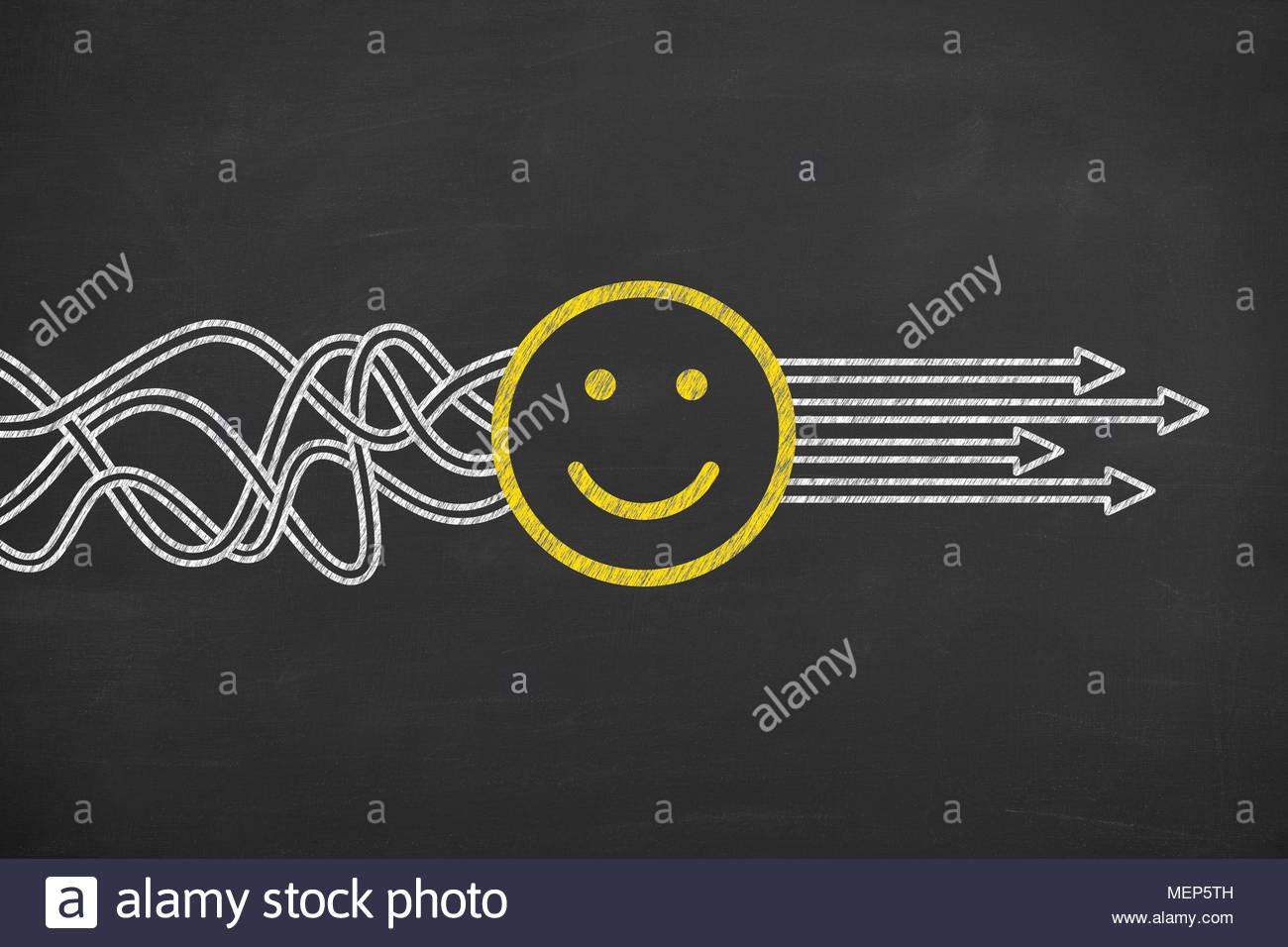 Conceptos de solución feliz Imagen De Stock
