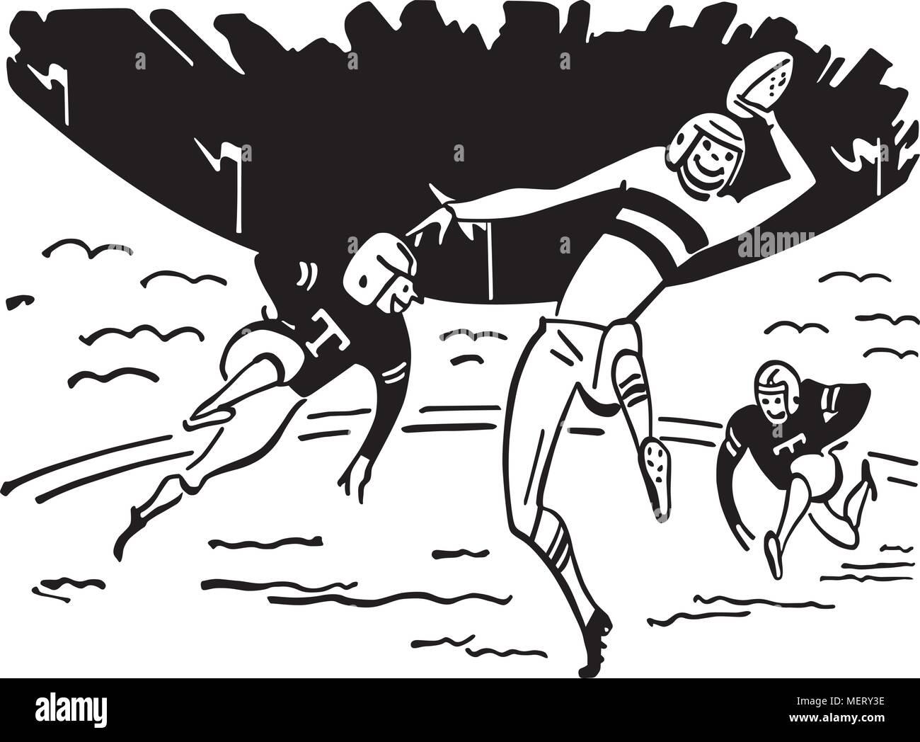 El fútbol es diversión - Retro Ilustración Clipart Ilustración del Vector