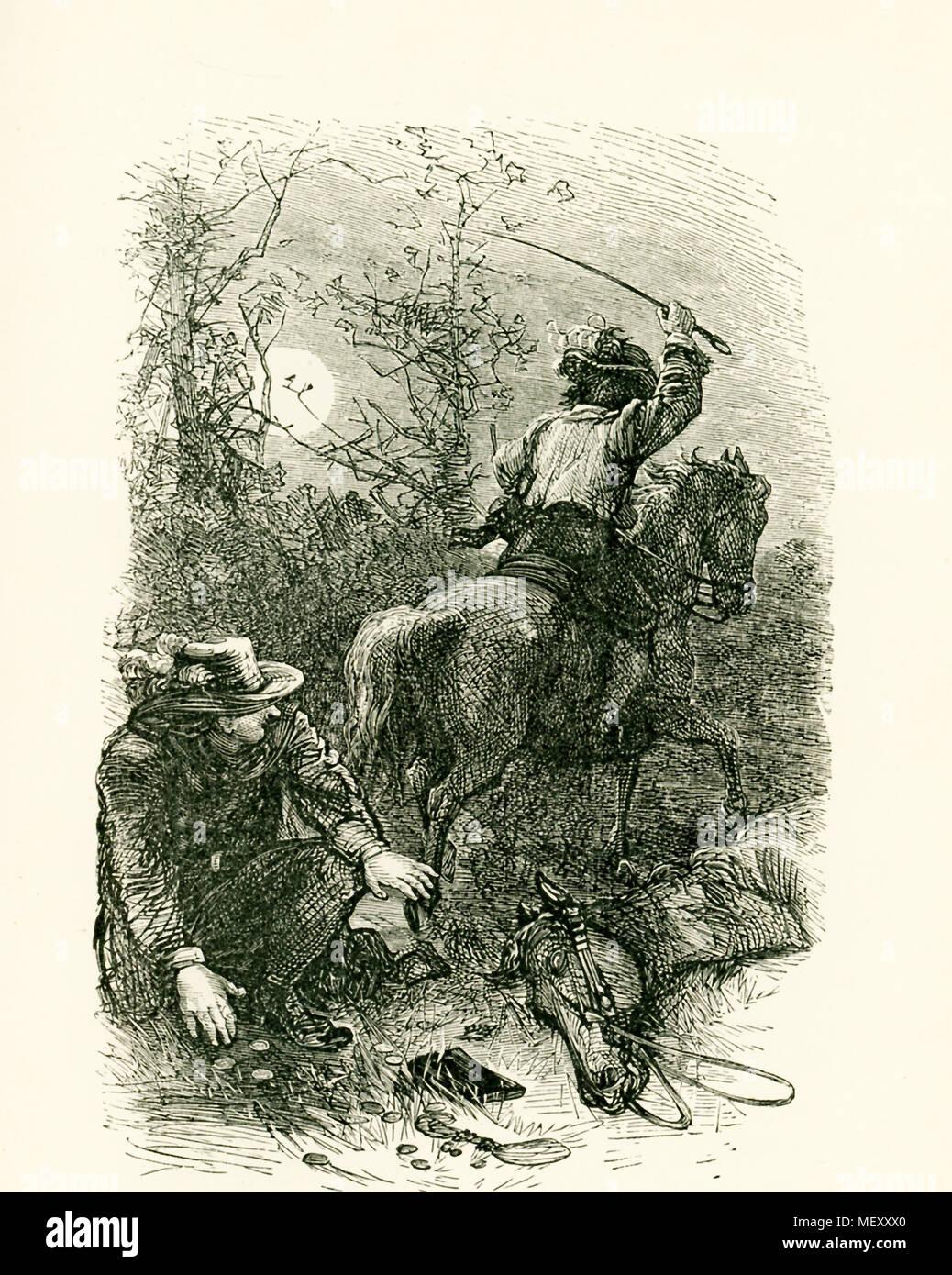 El título de esta ilustración que data de alrededor de 1865 reza así ...