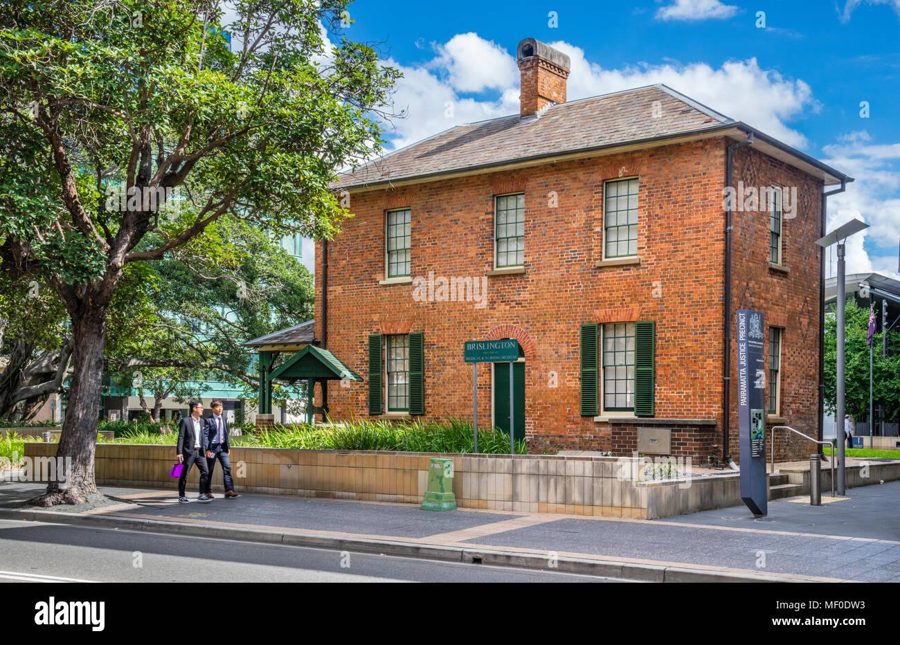 Médico y de enfermería Brislington museum, un edificio Georgiano de 1883 Parramatta, Mayor Western Sydney, New South Wales, Australia Foto de stock