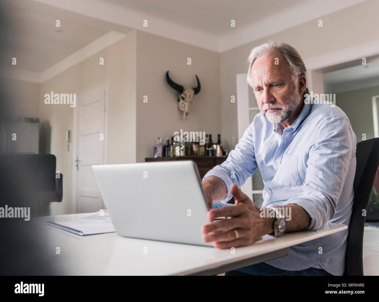 Retrato del hombre de negocios que trabajan en la oficina principal Imagen De Stock