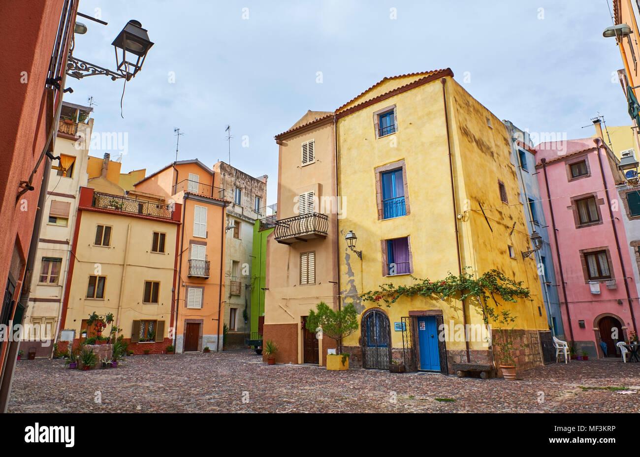 Italia, Cerdeña, Bosa Foto de stock