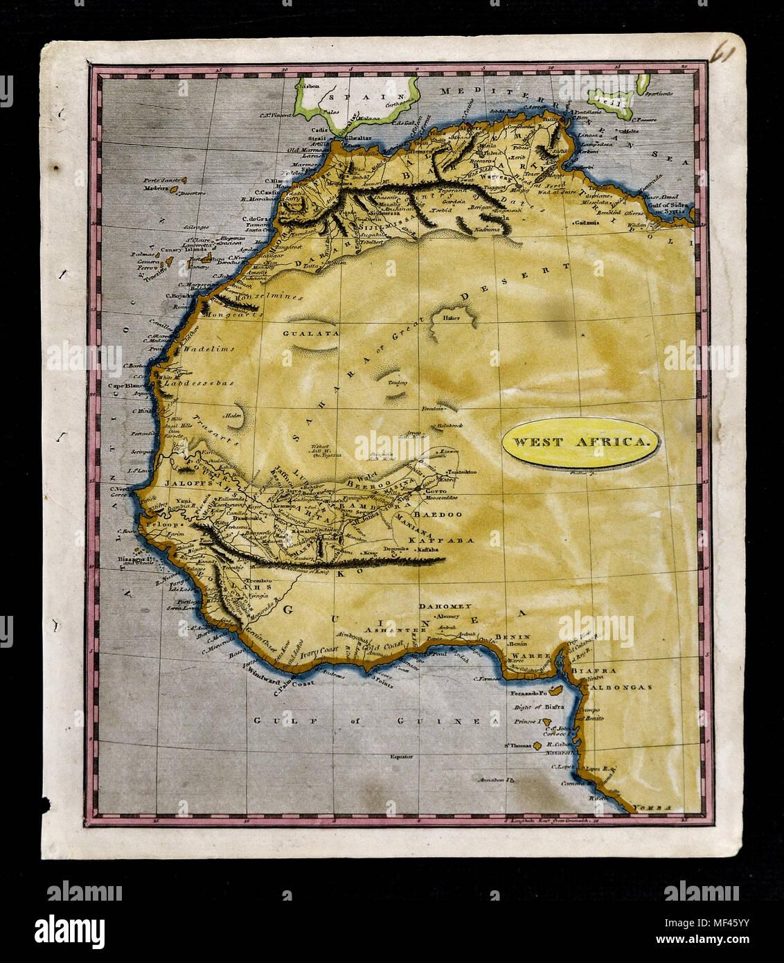 Desierto Del Sahara Mapa.1804 Arrowsmith Mapa Noroeste De Africa Marruecos Costa