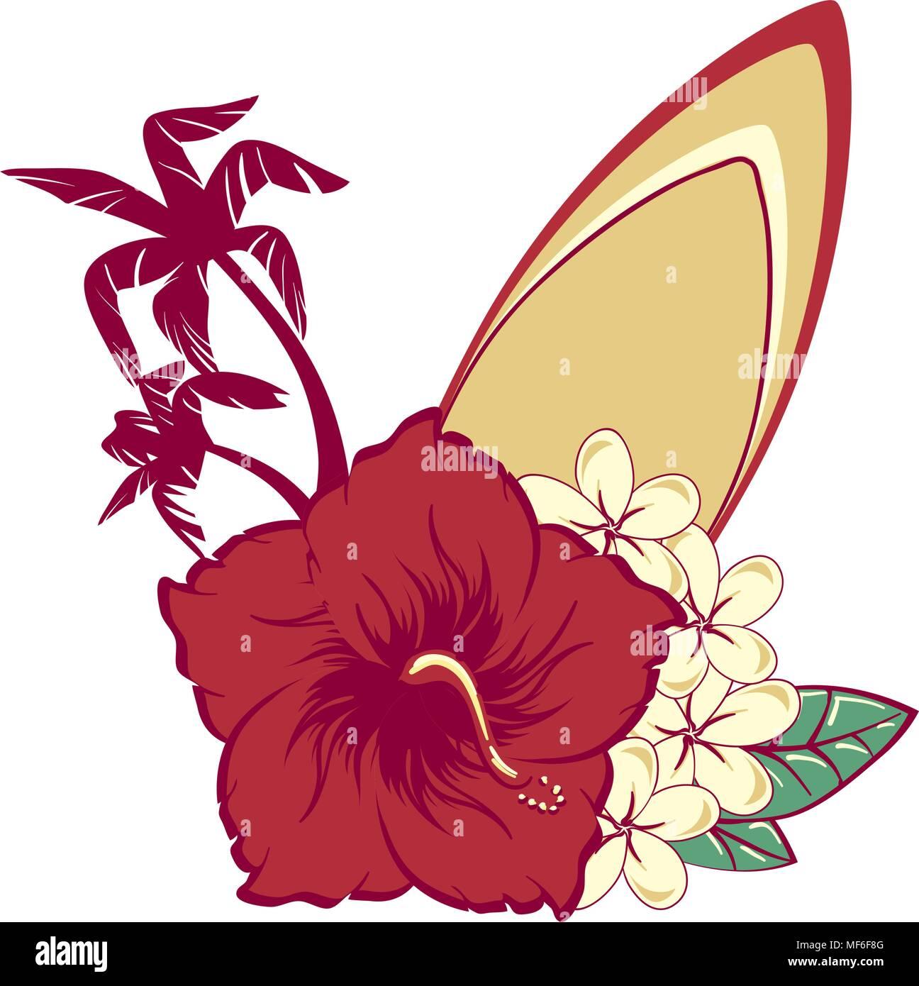 Hibisco Ilustracion Vectorizadas Disenos Flores Hawanas Www