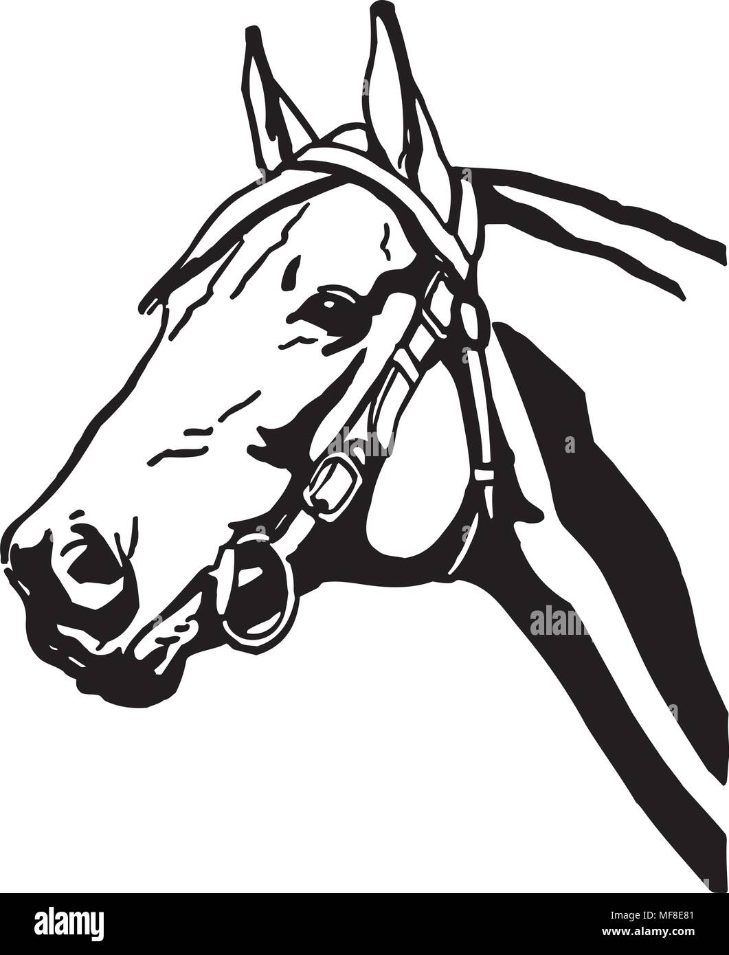 Horsehead 2 Retro Ilustracion Clipart Imagen Vector De Stock Alamy