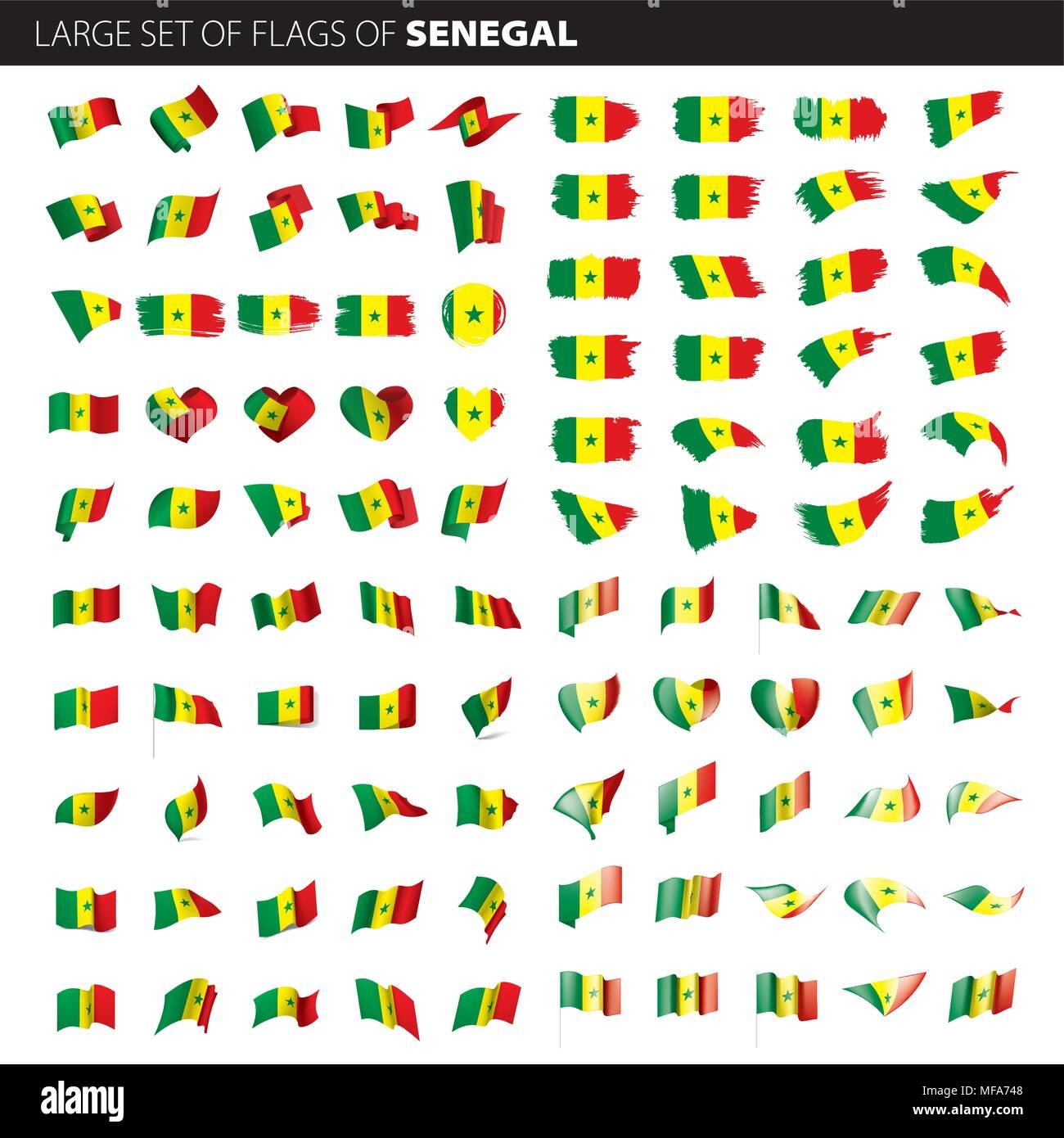 Senegal Bandera Ilustración Vectorial Ilustración Del