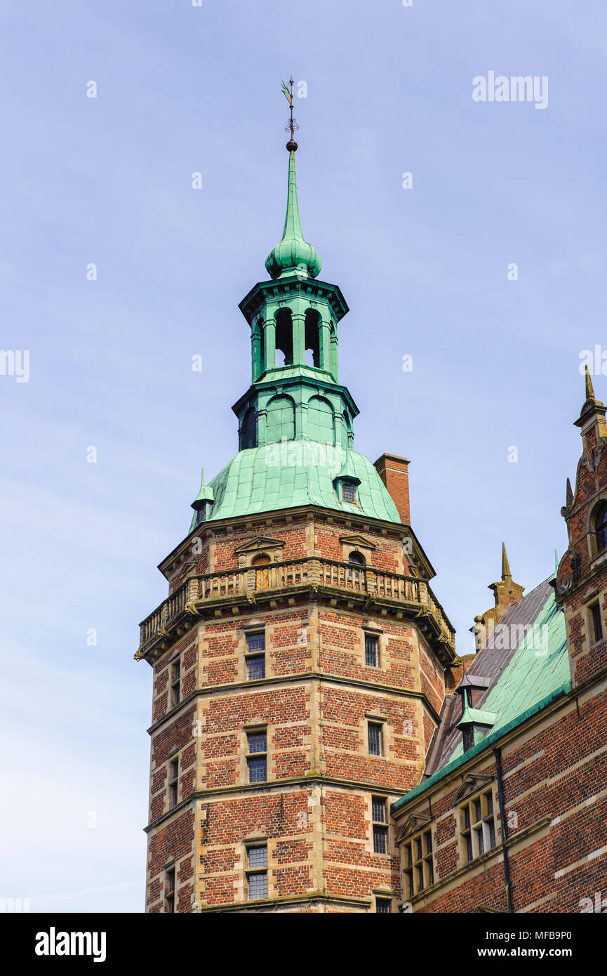 Castillo de Frederiksborg, Hillerod, Dinamarca. Actualmente es el Museo de la historia nacional Foto de stock