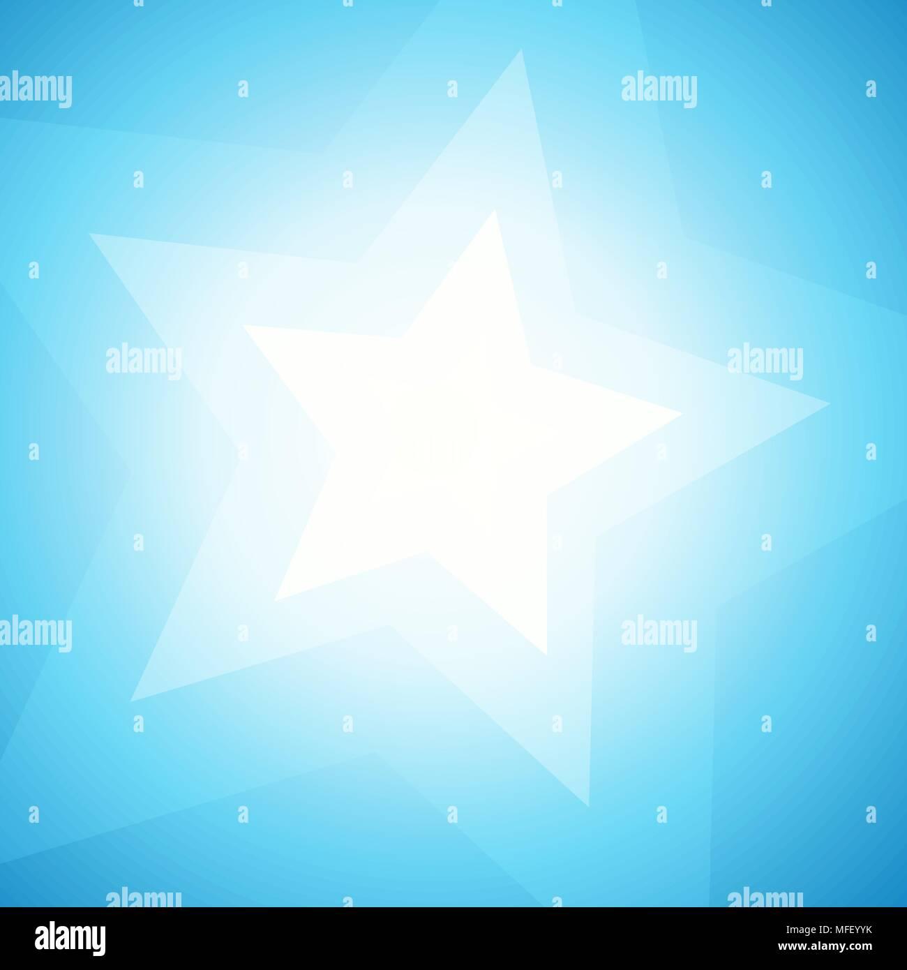 Día Soleado Azul Wallpaper Abstracto Ilustración Vectorial